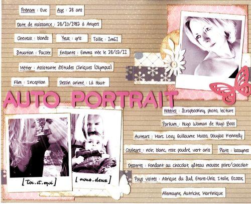 5 - Page autoportrait